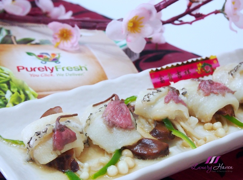 purelyfresh cod fish preserved cherry blossom flowers recipe