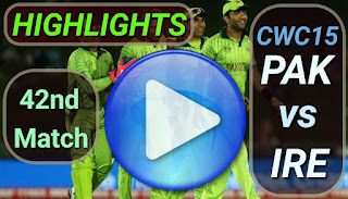 PAK vs IRE 42nd Match