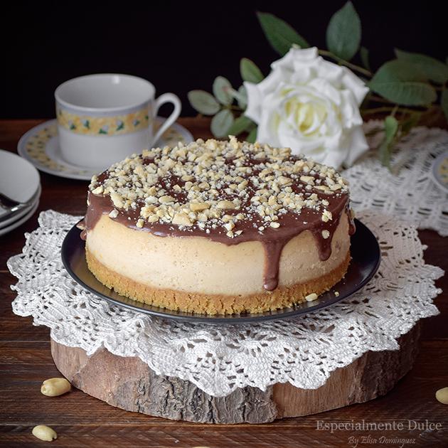 cheesecake crema de cacahuetes receta con horno