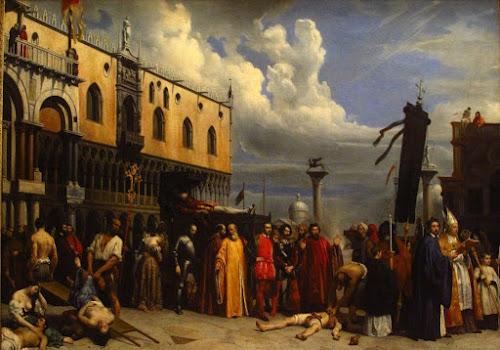 Homenaje fúnebre a Tiziano, muerto en Venecia durante la peste de 1576, Alexandre Jean-Baptiste Hesse