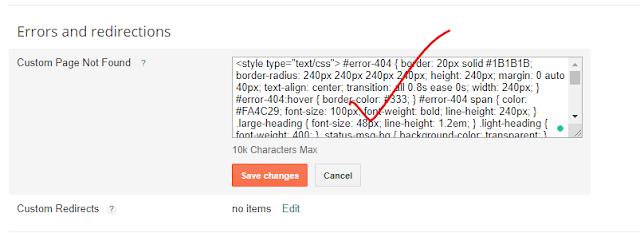 Blogger এর 404 Not Found পেজের  ভিজিটরকে নিয়ে আসুন হোম পেজে No Lost Google User