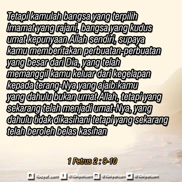 1 Petrus 2 : 9-10