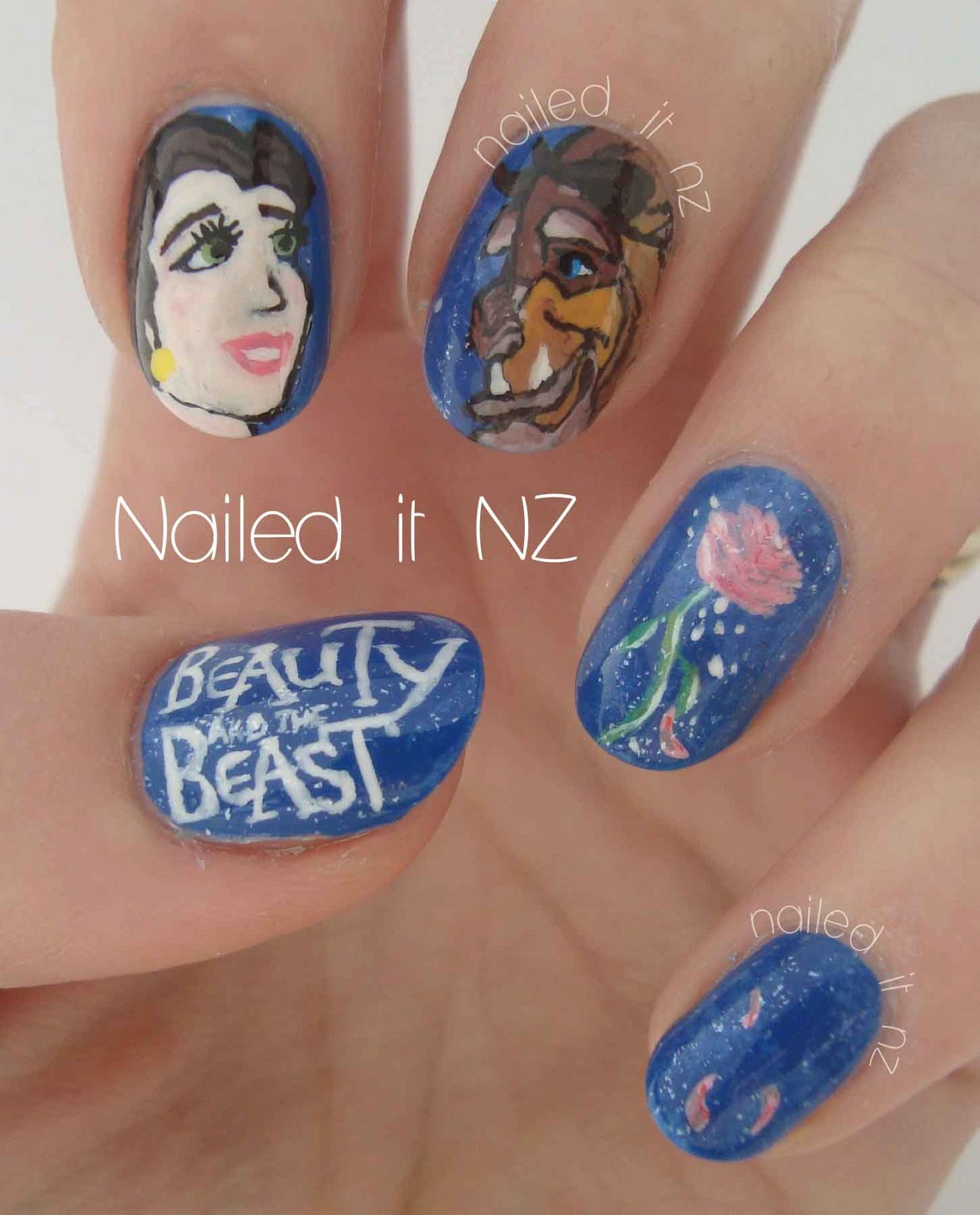 The Nail Art And Beauty Diaries: Disney Nail Art #2: Beauty And The Beast