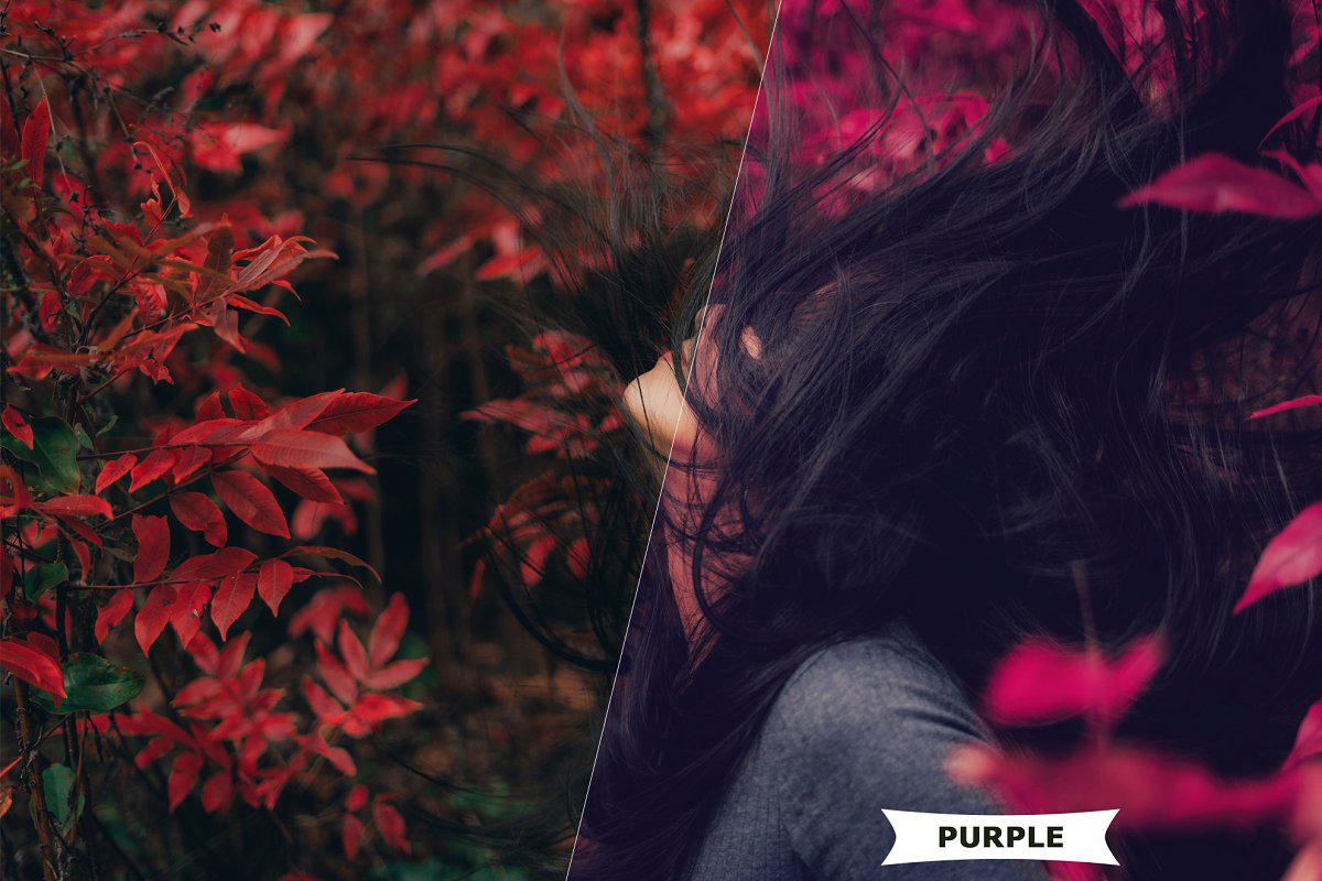 Purple Style Photoshop Action 4980961..