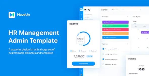 Best HR Management Admin Template for Adobe XD