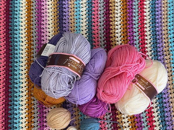 Berry Pie Crochet Blanket {Progress}
