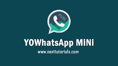 Download YOWhatsApp Mini v10 ANti-BAN Latest Version 2020, yowa mini v10, aplikasi wa mod terbaru 2020,yowa mini update 2020,tema whatsapp mod keren