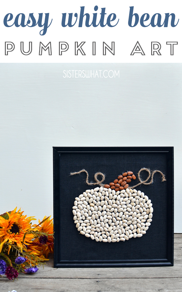 recycle beans into pumpkin art