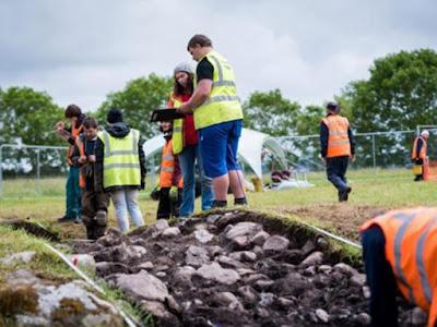 Parte della struttura insolita scoperta al cimitero megalitico di Carrowmore