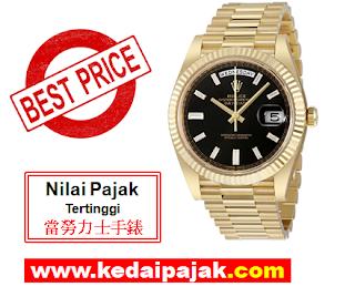 Pajak Rolex President Dengan RM80,000 - kedaipajak
