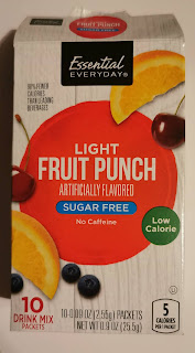 A box of Essential Everyday Light Fruit Punch Drink Mix Sticks