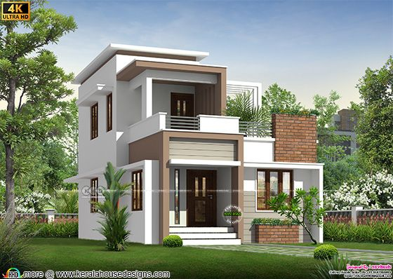 3 BHK double storied small house plan