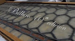 40ª edición del desembalaje de antigüedades de Bilbao, BEC, sobre cristal emplomado