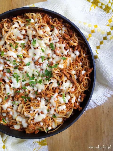 Zapiekane spaghetti bolognese przepis