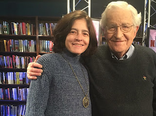 Chomsky with his second wife Valeria Wasserman