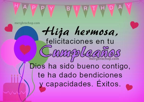 3 Bonitas Imágenes para Feliz Cumpleaños de Hija | Entre Poemas y ...