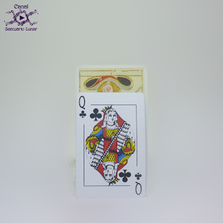 Tarot de Marseille (Heron) - Size comparison using a common playing card