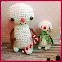 Hombrecitos de nieve amigurumi