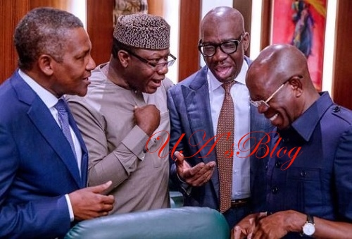 Edo: Obaseki, Oshiomhole 'Reunite' At Aso Rock