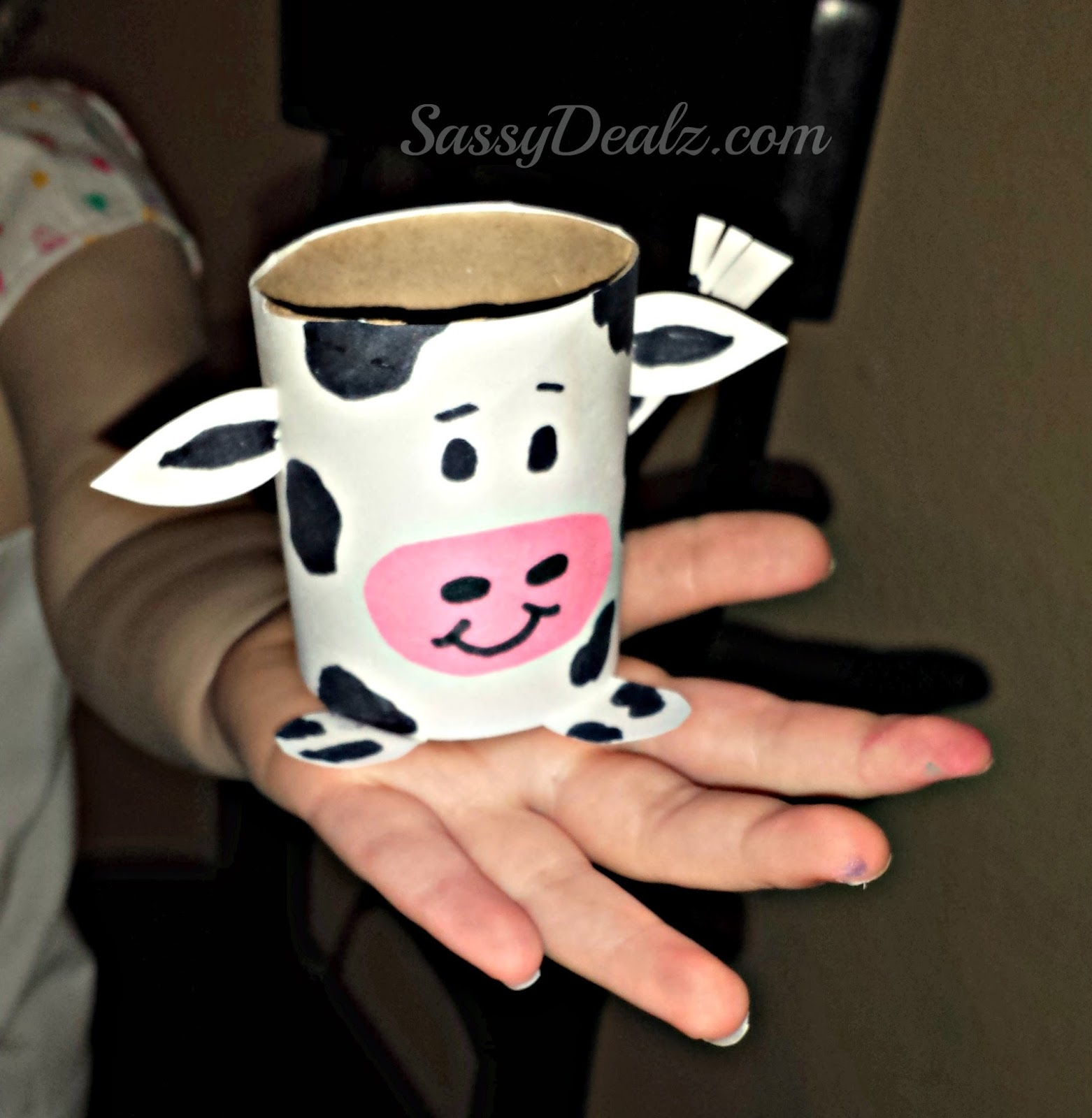 Cow Toilet Paper Roll Craft For Kids Farm Activity