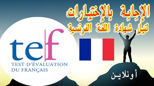 إختبار نيل شهادة اللغة الفرنسية TEF أونلاين جميع الأسئلة في فيديوا واحد Test d'Evaluation Français