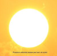 Pression artérielle baisse à bain soleil
