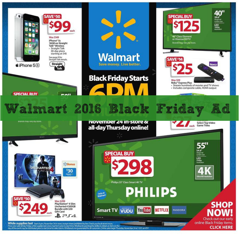 Walmart Com Usa Online: 2016 Walmart Black Friday Ad Now Available Online