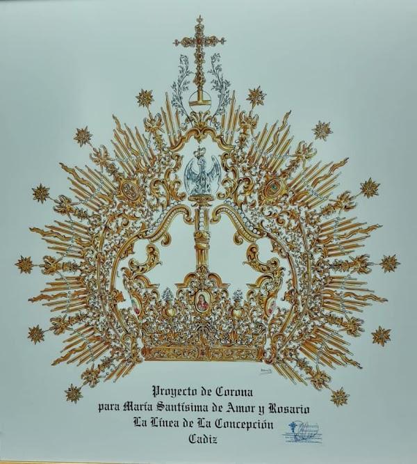 Nueva Corona para la Virgen del Amor de La Linea de la concepción
