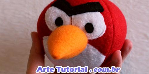 Como fazer o pássaro vermelho do Angry Birds de pelúcia