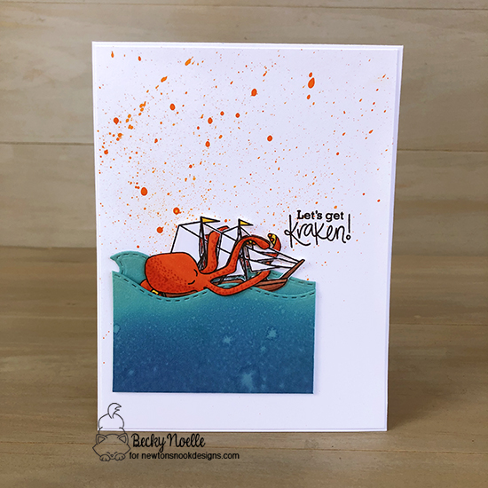 Let's get kraken by Becky features Message in a Bottle and Sea Borders by Newton's Nook Designs; #newtonsnook