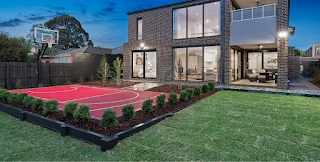Basketball court for home