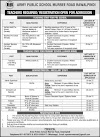 Latest Army Public School APS Jobs 2021 For Teacher Junior Wing, Admin Supervisor, Clerk, Computer Lab Operator & more
