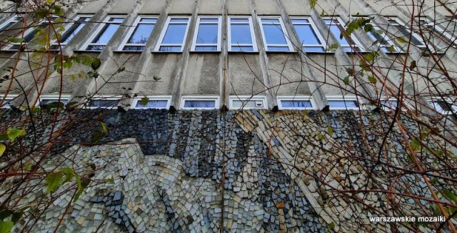 Biblioteka Centralna Polski Związek Niewidomych Warszawa Warsaw mozaika mosaic warszawskie mozaiki Kazimierz Gąsiorowski lata 70