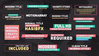 Modern Titles Animation