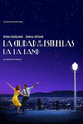Póster en español de  'La ciudad de las estrellas (La La Land)'