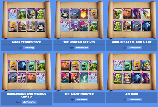 Clash Royale deck Arena 3