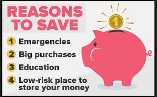 Reaseons for Saving Accounts