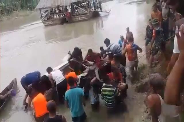 Mobil Jatuh di Sungai Wampu, Dua Korban Belum Ditemukan