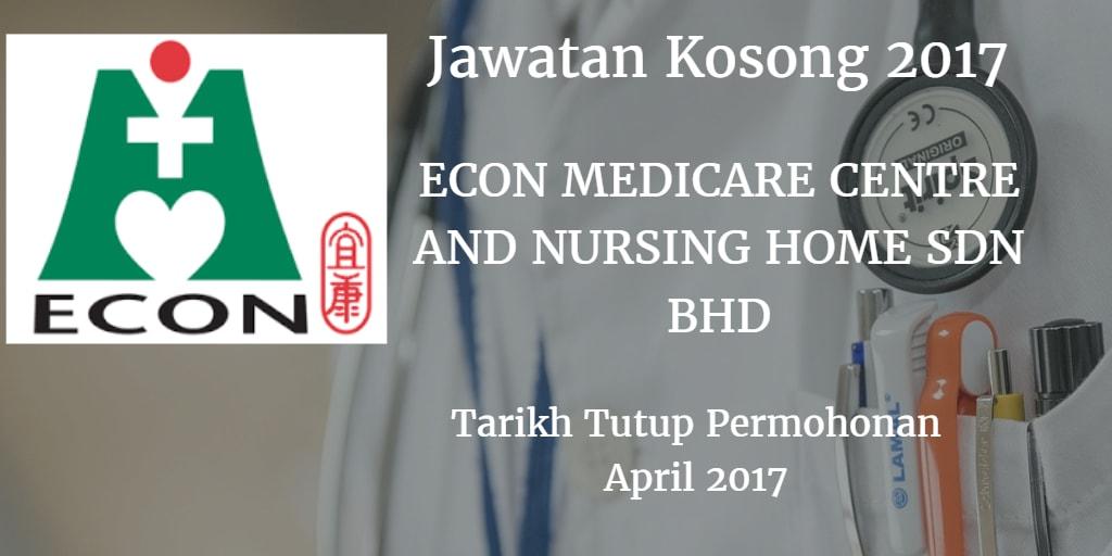 Jawatan Kosong ECON Healthcare Group (EHG) April 2017
