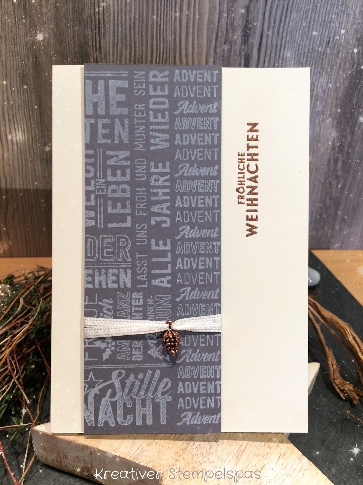 """habe ich den tollen Stempel """"Weihnachtspotpourri"""" für eine Karte verwendet er ist aber auch sooo schön und vielfältig einsetzbar 😊"""
