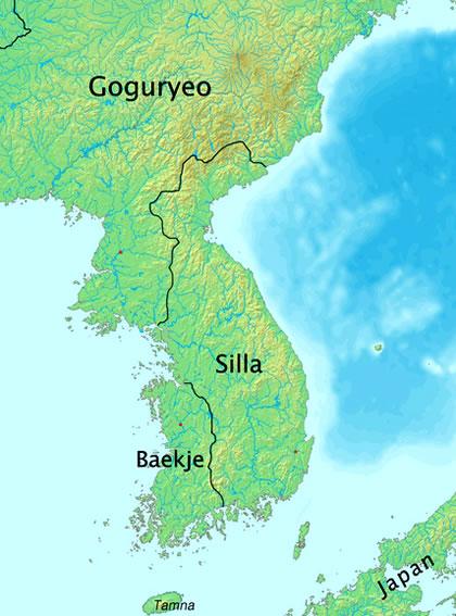 Silla Dynasty Map