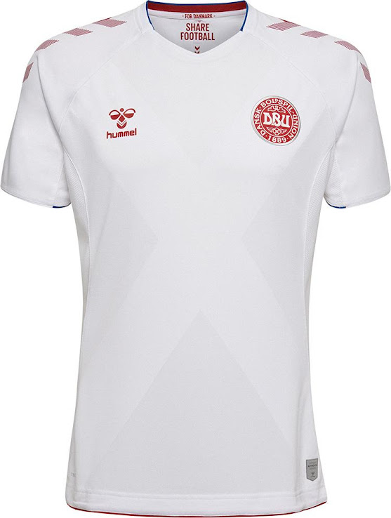 a026bed43 Hummel Denmark 2018 World Cup Home   Away Kits Released - Footy ...