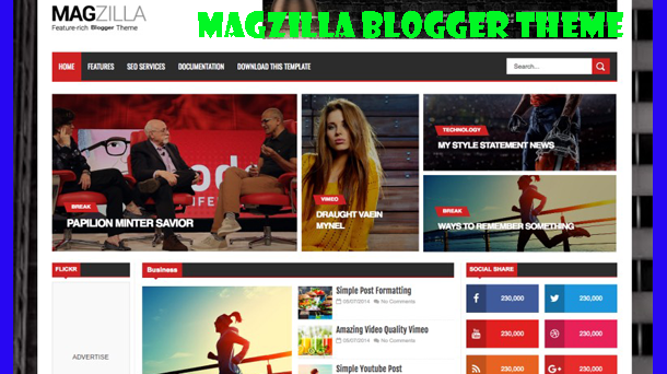 Magzilla Responsive Blogger Theme - Responsive Blogger Template