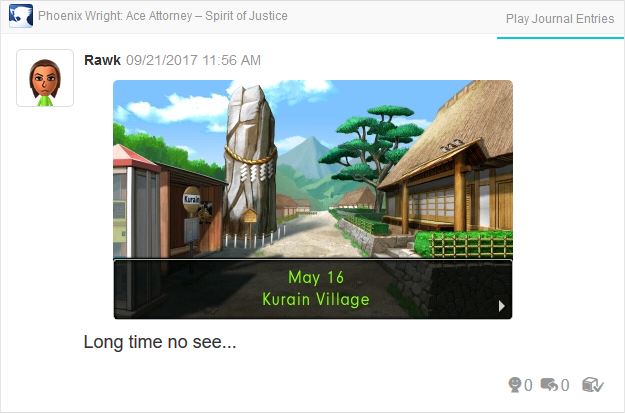 Phoenix Wright Ace Attorney Spirit of Justice Kurain Village May 16