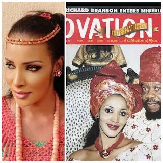 Viral photos of Odumegwu Ojukwu's Traditional marriage to formal miss Nigeria Bianca.