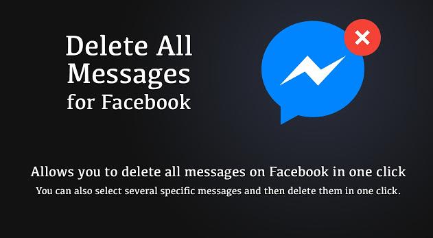 Xóa tất cả tin nhắn messenger facebook chỉ bằng một cú nhấp chuột.
