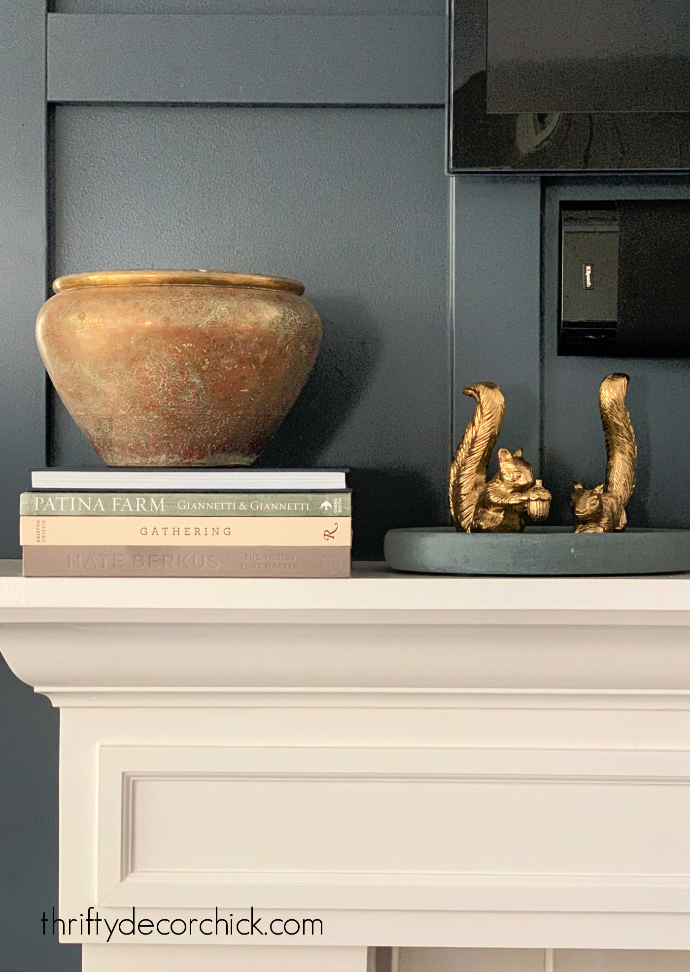 Using brass decor for fall decorating