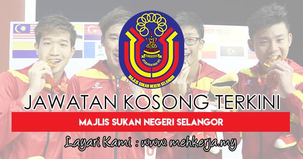 Jawatan Kosong Terkini 2018 di Majlis Sukan Negeri Selangor