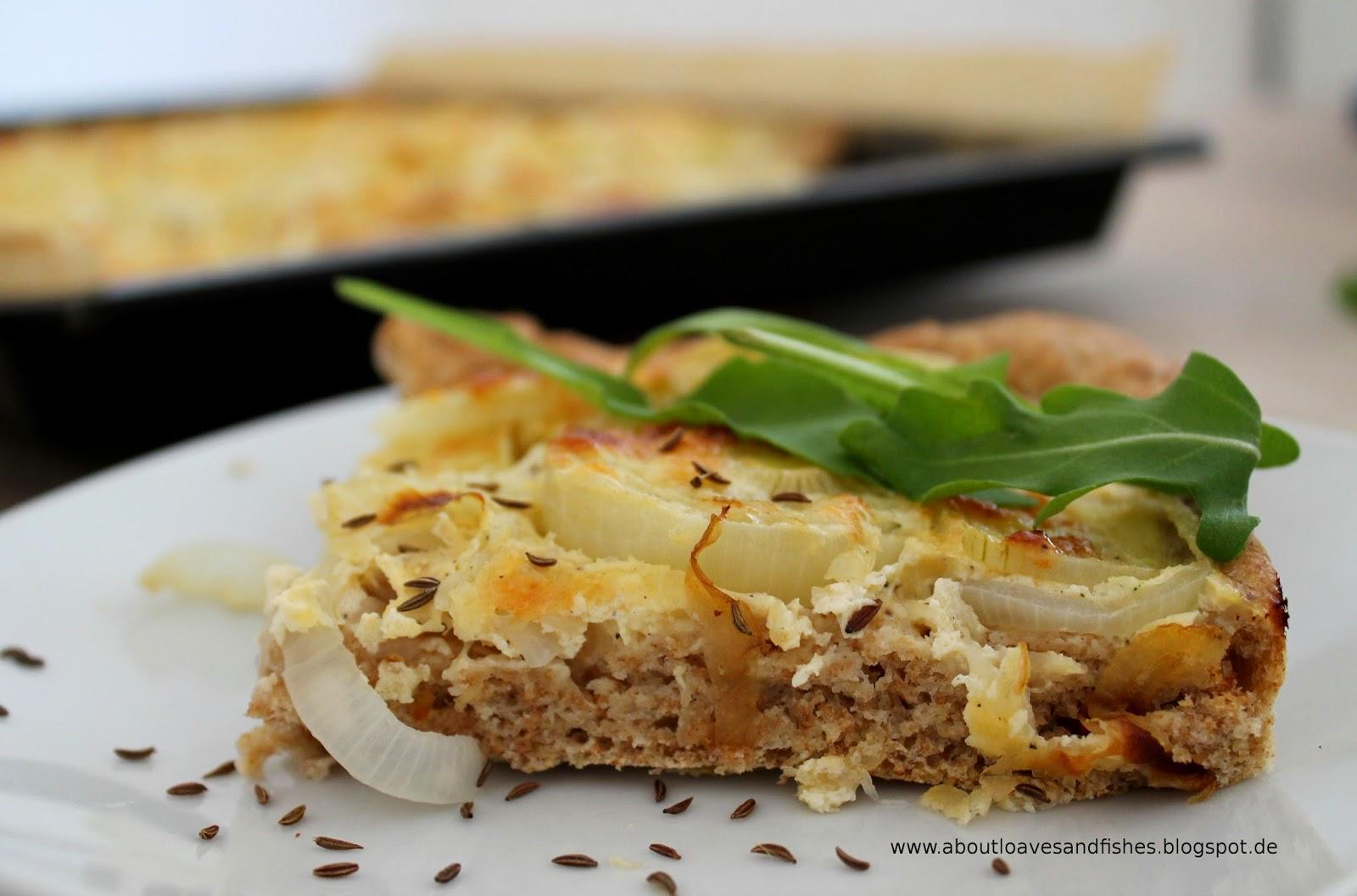 Einfacher Zwiebelkuchen von Blech