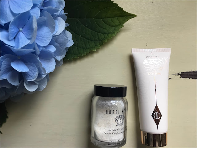 My Midlife Fashion, Bobbi Brown Buffing grains, Charlotte tilbury goddess clay mask